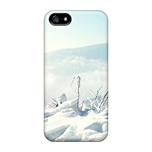 ZBft3851 Tpu Phone Case With Fashionable Look For Iphone 5/5s - Snow Winter Mountains