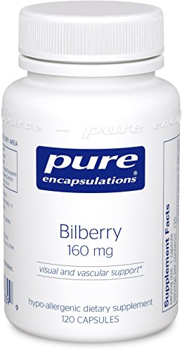 Pure Encapsulations - Bilberry 160 mg - Hypoallergenic Dietary Supplement to Promote Healthy Vision* - 120 Capsules by Pure Encapsulations