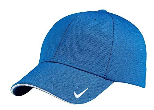 Mesh Swoosh Flex Cap (Nike Golf Dri-Fit Mesh Swoosh Flex Sandwich Cap Pacific Blue 333115 S/M)