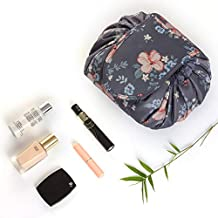 Portable Drawing Cosmetic Bag Waterproof Large Capacity Lazy Travel Makeup Bag Pouch Magic Quick Pack Toiletry Bag For Women, Girls Come With A Coin Wallet