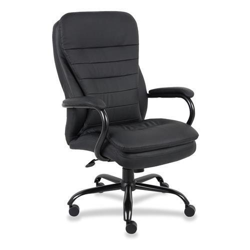 Lorell Leather (62624 Lorell Executive Chair - Black - Leather Black Seat - 33.5