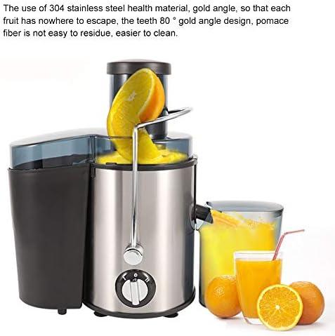 GOTOP Mixeur pressé pour fruits et légumes Extracteur de jus électrique 400 W Presse-agrumes centrifuge réglable en acier inoxydable de 500 ml à 2 vitesses
