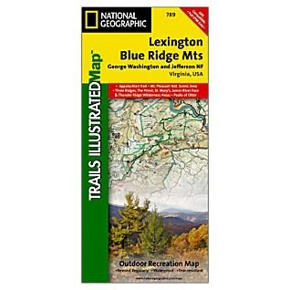 Trails Illustrated Map Lexington / Blue Ridge, G.W. & Jefferson National Forests