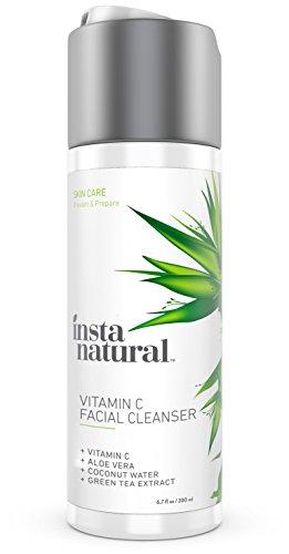 Nettoyant visage InstaNatural vitamine C - Anti vieillissement, l'acné & rides réduction se laver le visage pour les Pores clairs & réduites - avec des ingrédients biologiques & naturels - pour peau grasse, sèche & sensible - 6. 7 OZ