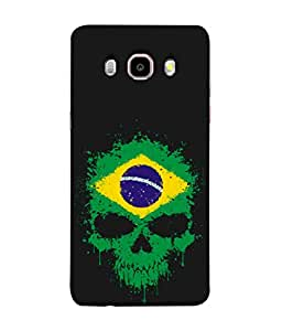 ColorKing Football Brazil 02 Black shell case cover for Samsung J5 2016