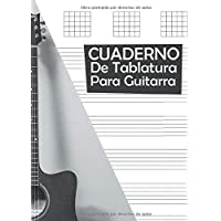 CUADERNO DE TABLATURA PARA GUITARRA.: Guitarra Seis Cuerdas