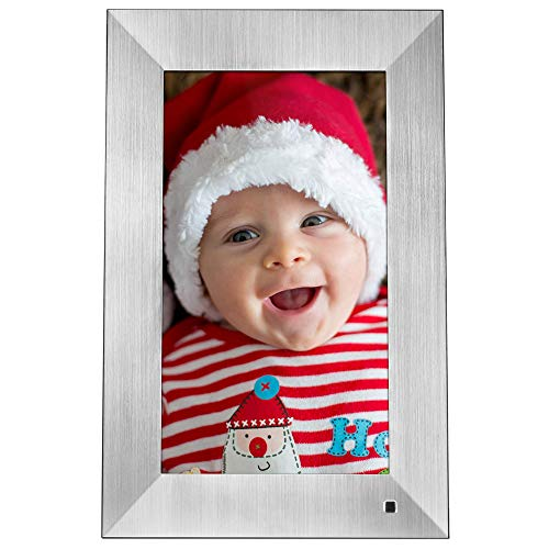 NIX Lux Digital Photo Frame 13.3 inch X13B, Metal. Electronic Photo Frame USB SD/SDHC. Digital Picture Frame with Motion Sensor. Control Remote and 8GB USB Stick Included