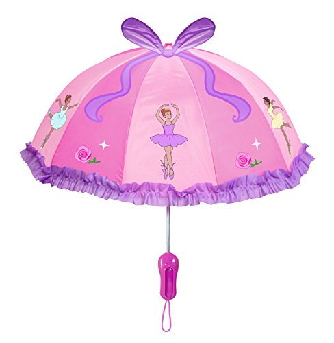 Kidorable Little Girls'Ballerina Umbrellas, Pink, One Size ()