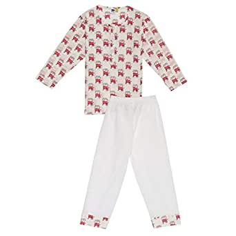 Vtwo Sleepwear Set For Girls, Pink/white