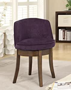 Coaster Home Furnishings Accent Chair, Espresso/Burgundy