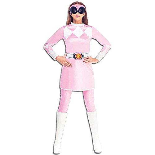 Rubie's Official Pink Power Ranger Fancy Dress Ladies Superhero Rangers Adult