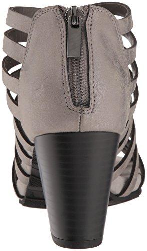 Sandalo Con Tacco Da Donna Facile Da Strada Con Tacco In Peltro Metallizzato