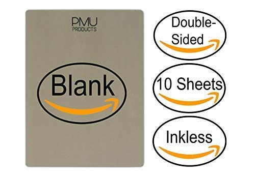 PMU Premium Blank Microblading Practice Skin Double-Sided | Professional Realistic Hairstroke Tattoo Latex | Special Eyebrow Designs For Cosmetic Tattooing (Blank - 10) ()