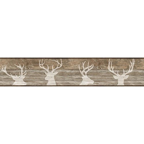 York Wallcoverings Deer Silhouette Border, ()