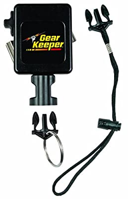 "Gear Keeper RT3-7526 Retractable Instrument Tether with Stainless Steel Rotating Belt Clip, 80 lbs Breaking Strength, 26 oz Force, 28"" Extension"