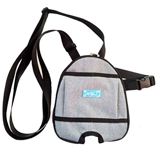 Hcwlxjy Bladder Ostomy Elderly Drainage Bag Care Package Round Incontinence Urine Collector Ostomy Bag Care Kit Oblique Backpack Fixed Belt,Gray,1000ml
