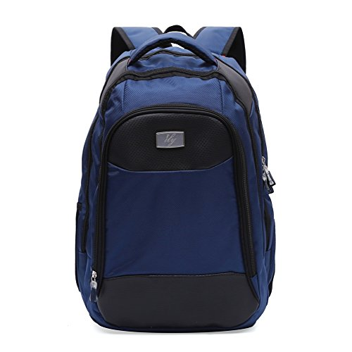 Kuoser Large Multifunctional School Backpack for Boys College Fits 15-inch Laptop,Dark blue
