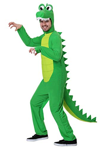 Men's Goofy Gator Costume Large Green -