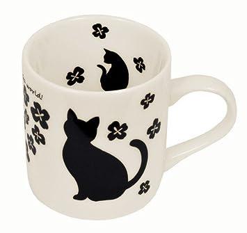 Taza de gato negro taza y # x3000; Ciervo gatos Series y # x3000; g-8058bk Clover: Amazon.es: Hogar