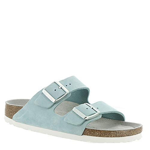 Birkenstock Nubuck Arizona Sandals - Birkenstock Women's Arizona Soft Footbed Sandal Sky Nubuck Size 41 N EU