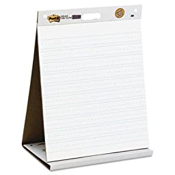 Brand New Post-It Easel Pads Self-Stick Tabletop Easel Ruled Pad Command Strips 20 X 23 White 20 Shts/Pad