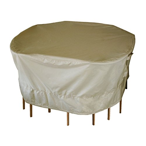 Leader Accessories Round Table and Chair Set Covers (Round Table and 4 Chair Cover 60 in.D x 23 in.H, Brown)