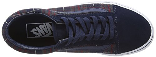 Dress Vans Plaid Blue Unisex U Zapatillas Blues Skool Old Adulto xOwWOP8gqa