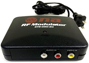 Cambiar TV Modulador RF Audio Video RCA Ant entrada a F Tipo coaxial de salida del convertidor, modelo: Amazon.es: Electrónica