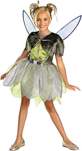 [Costumes For All Occasions DG50433L Tinker Bell Deluxe 4-6] (Disney Tinker Bell Kids Sparkle Shoes)