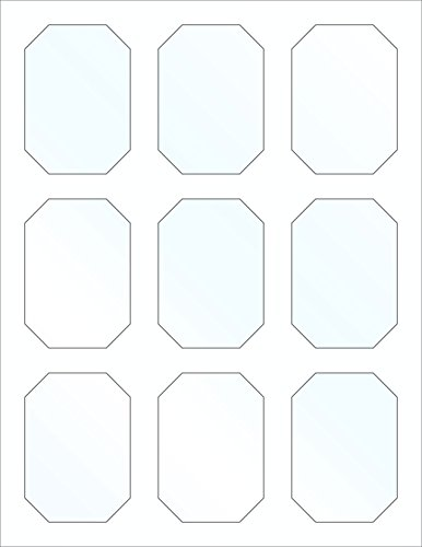 45 Printable Candy Buffet Signs and Labels for Jars and Containers, 3 x 2.1 inches, Clear Gloss, Stickers for Displays, Clear Plastic Jars and Mason (Bulk Candy Jars)