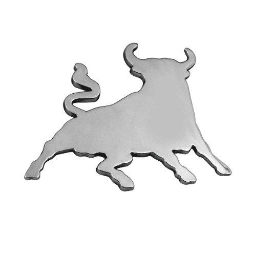 Chrome 3D embl/ème de la voiture auto adh/ésif logo caract/ères Toro Bull 3D07207 3M auto-adh/ésif