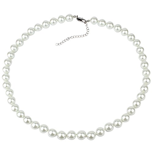 12mm Faux Pearl Necklace 24