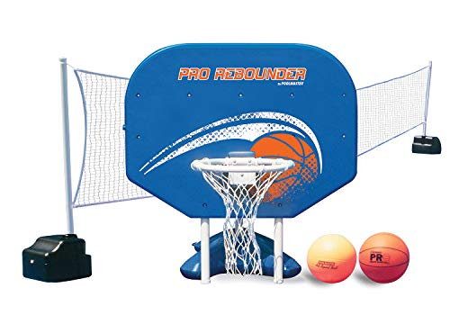 Poolmaster Pro Rebounder Swimming Pool Basketball and Volleyball Game Combo
