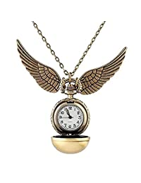 Harry Potter Quidditch Snitch Watch Clock Pendant Necklace