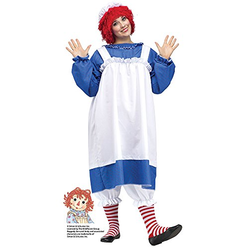 - Fun World Costumes Women's Raggedy Ann Costume, Blue/White, Plus Size