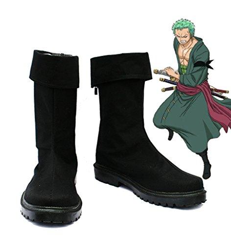 Une Seule Pièce Anime Roronoa Zoro Cosplay Chaussures Bottes Faites Sur Commande