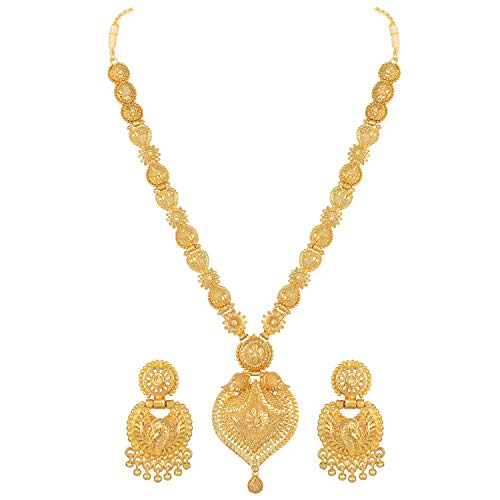 Asmitta One Gram Gold plated Premium Quality Necklace set for Women and Girls