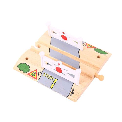 Bigjigs Rail Level Crossing   Other Major Wooden Rail Brands Are Compatible