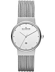 Skagen Womens 355SSS1 Ancher Stainless Steel Mesh Watch