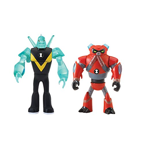 Ben 10 Alien Creation Figures 2 Pack (Diamondhead, Overflow)