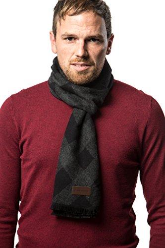 Marino's Winter Cashmere Feel Men Scarf,100% Cotton Fashion Scarves, In Elegant Gift Box - Sombre