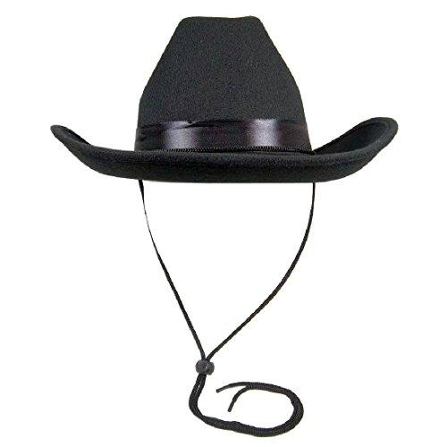 23737 (59cm Black) Deluxe Felt Cowboy Costume Western