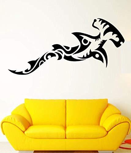 - Hammerhead Shark Ocean Sea Marine Animal Tribal Design Wall Mural Vinyl Decal Sticker M192