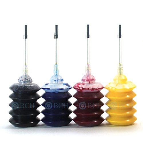 (BCH Pigment Ink Cartridge Refill Kit for HP 950 951 XL 4-Bottle Combo Black Cyan Magenta Yellow IP30-4567)