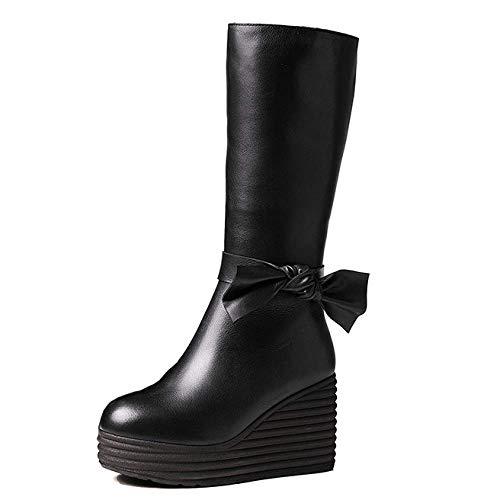 Portable Chaussures Vintage Bottes Femmes ZPEDY pour élégant Black Confortable 7an0IxZ