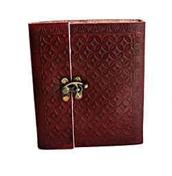 HLC Vintage Leather Journal Notebook Diary for Writers Artist Professionals Leather Notebook Sketchbook Blank Book