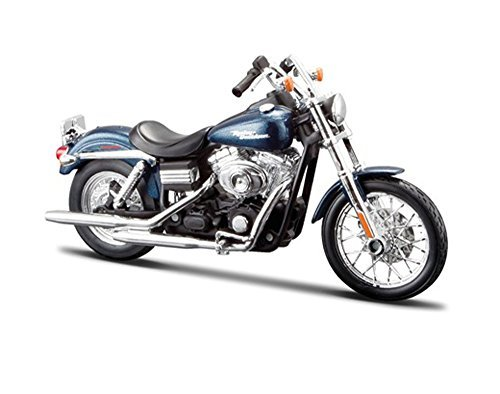 Bikes Harley (FXDBI Dyna Street Bob Harley-Davidson Motorcycle, Blue - Maisto HD Custom 32325/BIKE - 1/12 Scale Diecast Model Toy Motorcycle)