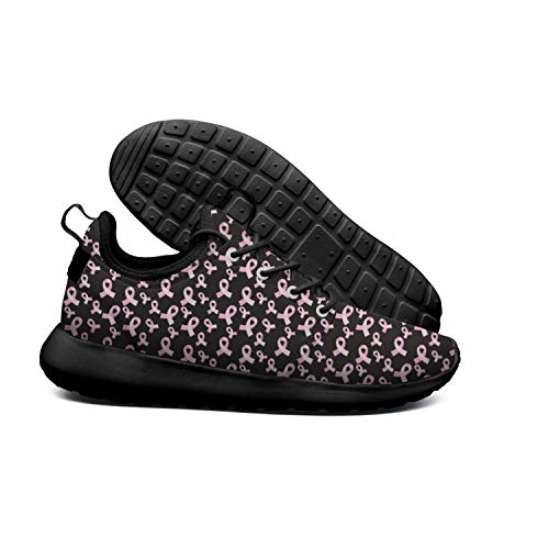 DEEEWKF Pink Ribbons Breast Cancer Awareness Womens Ultra Lighweight Sneakers Cool