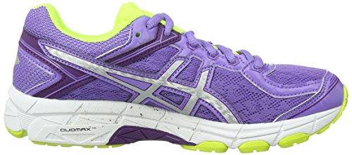 Asics Gt-1000 4 Gs - zapatos de entrenamiento de carrera en asfalto Unisex Niños Morado / Amarillo