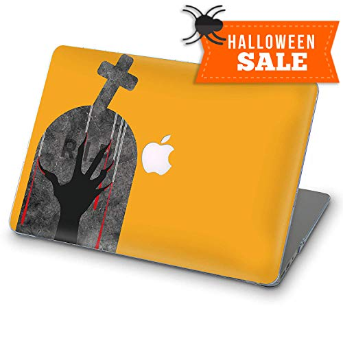 ZVStore MacBook Case Art Design Protective Shell Sleeve Plastic Hard Pro Case MacBook Printed Bottom Halloween/Zebra (Pro 15 (A1707 & A1990) 2016 2017 2018, Halloween Scratching Hand RIP)]()